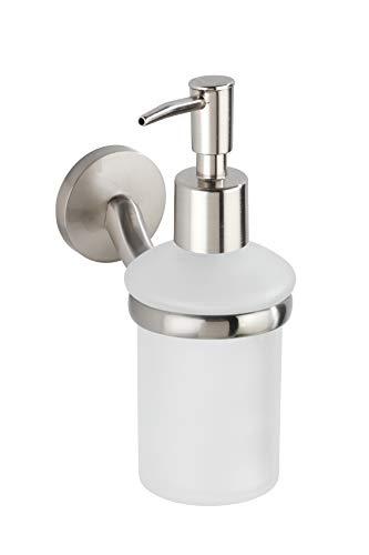 WENKO zeepdispenser Cuba vloeibare zeep, afwasmiddeldispenser, gegoten zink, mat, 7 x 17 x 11,5 cm