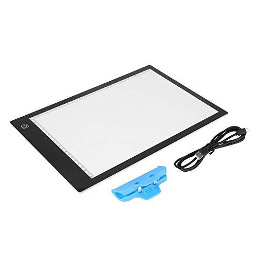 Zerone Tableta LED Light Pad,Diamante Pintura LED Tableta USB LED Gráfico Tableta Touchpad Animación Lápices Lightbox Nuevo A4
