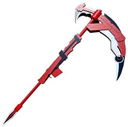"""MINGSHAO 53"""" RWBY Ruby Cosplay Wooden Crescent Rose The High-Velocity Sniper-Scythe Replica Anime Game"""