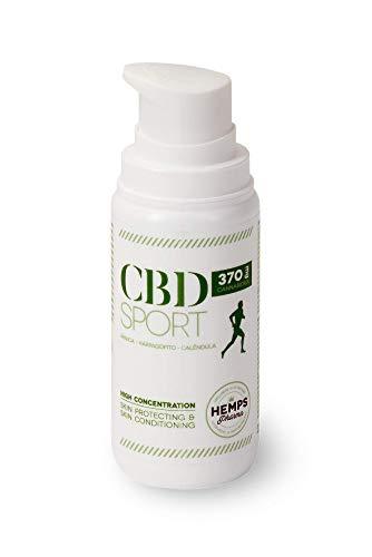 Hemps Pharma - CBD SPORT 370 | Crema ad Effetto Termico per la Preparazione e il Recupero di Muscoli e Articolazioni | CBD | Arnica | Calendula | Arpagofito - 100 ml