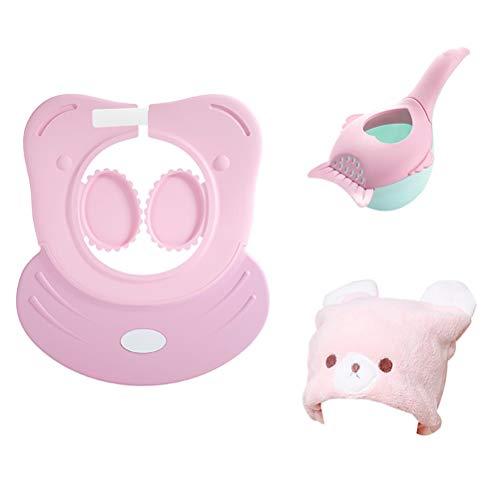 Baby badkuip douchekapset badshampoo Shield vizier voorkomt het binnendringen van water met de ogen en oren baden met haardroger Cap + en shampoo gehoorbescherming 4-delig