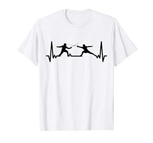 Fechten Kardiogramm Geschenk für Fechter Spiel Fechten T-Shirt