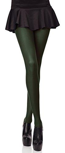 Merry Style Collant da Donna Opaco in Microfibra 40 DEN (Verde...