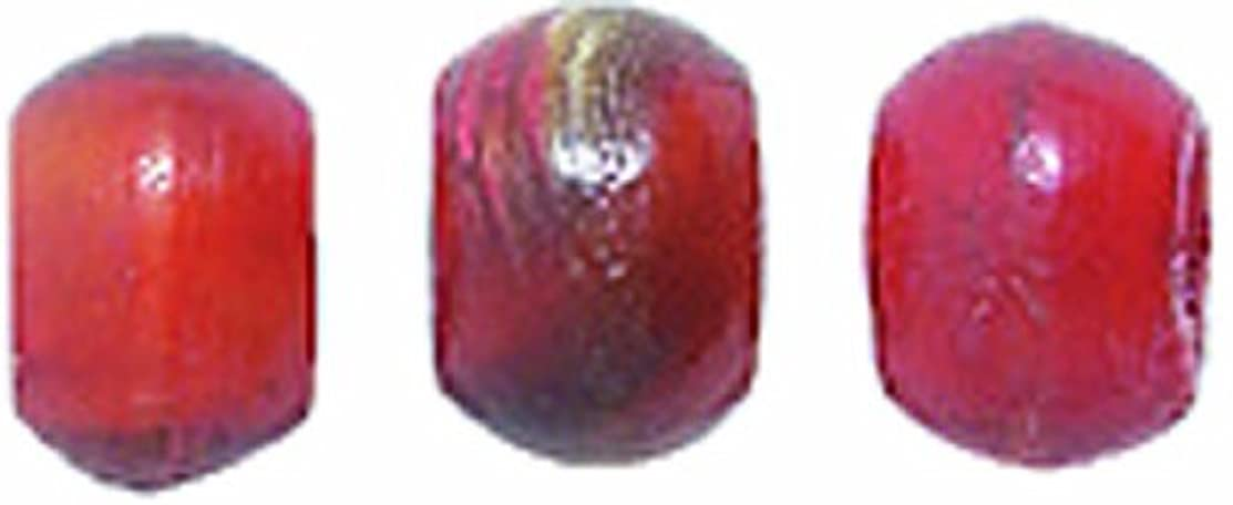 Shipwreck Beads 400-Piece Round Horn Beads, 4 to 5mm, Red Amber, 400-Pack