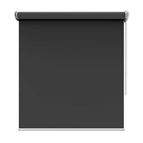 WYAN Black out Cortinas enrollables for Windows - Negro de Tela Impermeable Personalizados persianas de la Ventana, 50cm / 60cm / 70cm / 80 cm de Ancho para Ventana/Puerta/Patio (Size : 80 * 80CM)