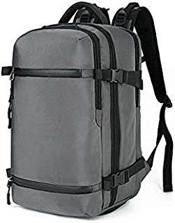 Asdfnfa New Oxford Cloth Backpack Outdoor Multi-Function Backpack Large Capacity Waterproof Travel Backpack (Color : Gray, Size : S)