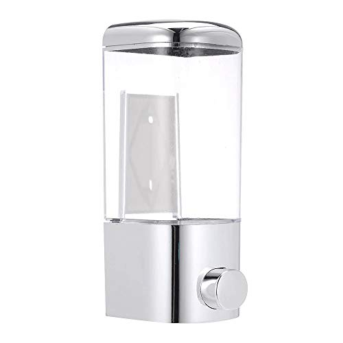 ADGO Dispenser di Sapone Sospeso 500 ml, Dispenser di Sapone Liquido Disinfettante, per Home Office Bagno Cucina Hotel Ospedale, Argento, 1 pezzo