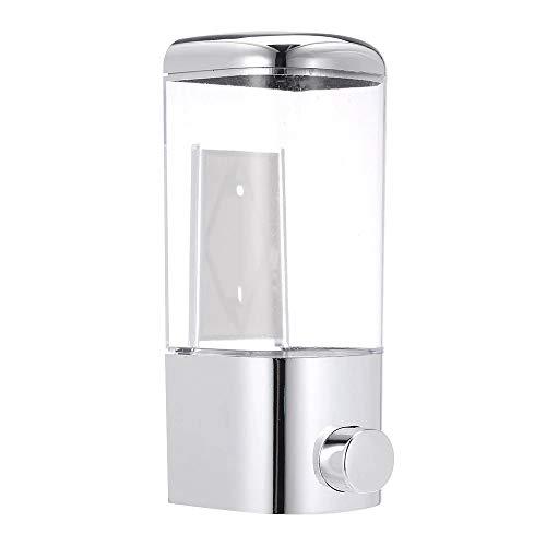 ADGO Dispensador de jabón líquido de pared, accesorio de baño, detergente de plástico, champú, dispensador de jabón de cocina, 500 ml