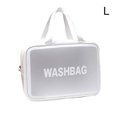 jiheousty Transparent Voyage Cosmétique Sac Maquillage Cas Pochette Toilette Zip Wash Organisateur De Toilette