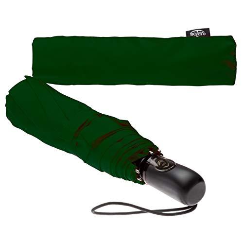 BOLERO OMBRELLI - Ombrello Mini Pieghevole Portatile, Antivento e Automatico - Apertura e chiusura automatica OPEN-CLOSE - Tessuto Pongee 190T - (7 Colori)