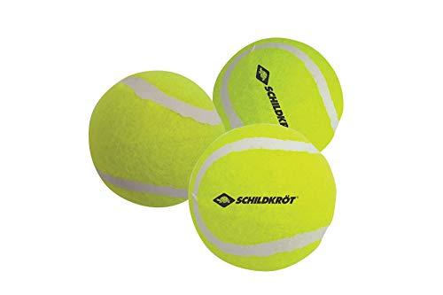Schildkröt Freitzeit-Tennisbälle, 3 Stück, drucklos im Meshbag, gelber Filz, für das erste Tennis-Spiel auf der Strasse, im Hof, 970048