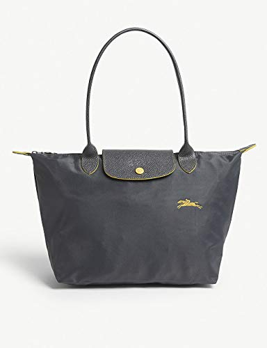 Longchamp Le Pliage Club - Borsa a tracolla piccola, in nylon, colore: canna di fucile