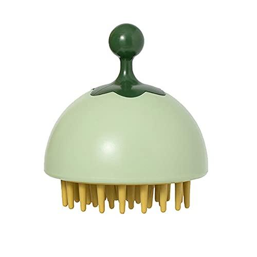 NAYAO Cepillo portátil del Massager del Cuero cabelludo del Peine del Pelo, Cepillo plástico del Lavado del Pelo del Cepillo del depurador(Green)