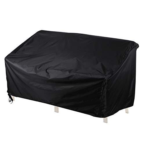 Awnic Bank Abdeckung Schutzhülle für Gartenbank 3 Sitzer Reißfest Wasserdicht Oxford Stoff Anti-UV Bank 3-Sitzer 160×70× 60/88cm