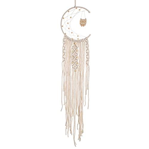 MagiDeal Tejido de algodón macramé Colgante de Pared Tapiz atrapasueños decoración de la Pared Boho Tejido tapices de Punto