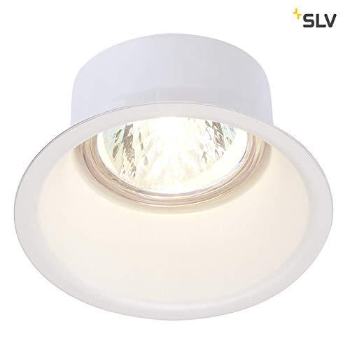 SLV LED Einbaustrahler HORN-O, weiß, rund, Dimmbarer Decken-Spot zur Beleuchtung innen, LED Spot, Einbau-Leuchte, Deckenstrahler, Deckenleuchte, Einbau-Lampe, 1-strahlig, GU10 QPAR51, EEK E-A++