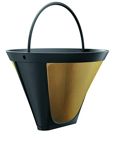 Braun Gold Tone Permanent, Reusable #4 Cone Shaped, No Paper Filter Needed Fits Coffee Makers 7 & Series 9, BRSC002