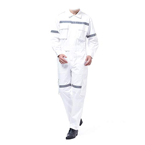 YJKJ Mono De Trabajo, Pantalones con Peto De Trabajo para Hombre, 100% Algodón Reflexivo Absorbe La Humedad Múltiples Bolsillos,XXL