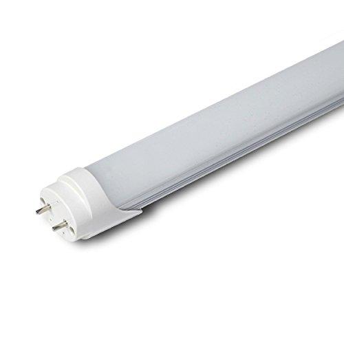 GRG Tubo Neon a LED SMD con attacco T8 da 120cm 20W luce fredda 6000-6500k e copertura opaca, durata extra 25000 ore, corpo in alluminio. Tensione di lavoro 220V, non necessita di starter e reattore.