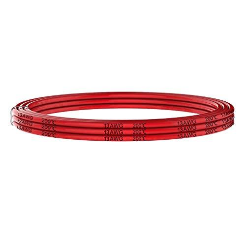 13 AWG Silikon Elektrischer Verlängerungskabel Draht Kabel anschließen 5 Meter und flexibel aus verzinntem Kupferdraht Hohe Temperaturbeständigkeit für RC Auto, Drohne etc (Rot)