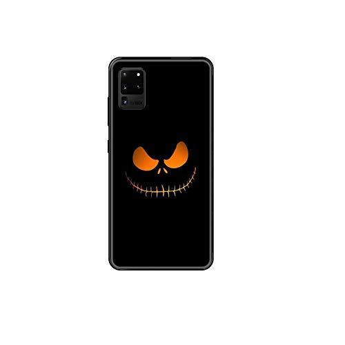 Caja del teléfono de la calabaza de Halloween para Samsung Galaxy S 3 4 5 6 7 8 9 10 E Plus Lite Edge negro pintura impermeable silicona prime-11-Galaxy S7