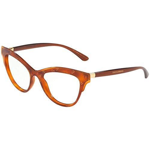 Dolce & Gabbana 0DG3313 Monturas de gafas, Honey Havana Dg Gold, 52 para Mujer