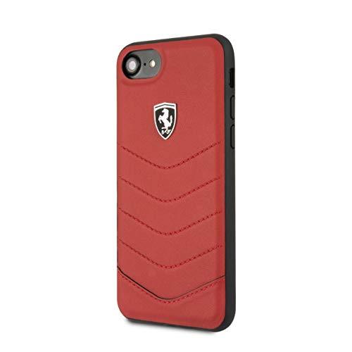 Ferrari FEHQUHCI8RE - Funda de Piel para iPhone 7/8, Color Rojo