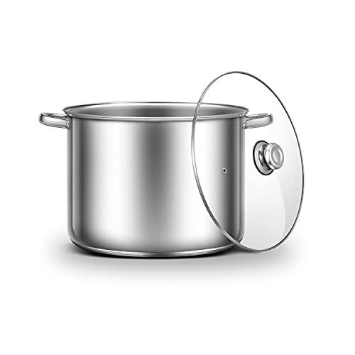 Ribelli Pentola ca. 20L – Utilizzabile Come bollitore per gulasch o zuppa – Pratico pentola da Cucina per Molti Piani Cottura, eccetto induzione