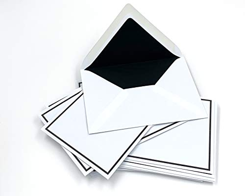 50 Trauerumschläge mit schwarzem Rahmen, C6 = 162 x 114 mm, schwarzes Seidenfutter