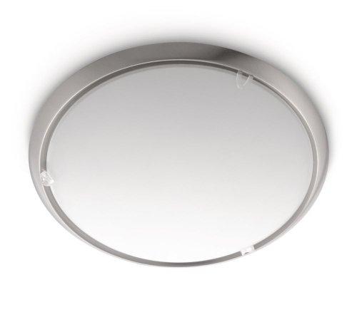 Philips myLiving Canvas - Plafón, iluminación interior, casquillo E27, IP20, luz blanca cálida, color gris