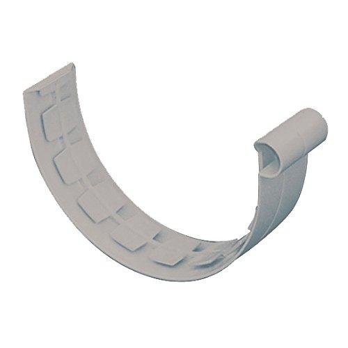 First Plast - Gouttière PVC 33 demi-ronde - Jonction à coller PVC 33 demi-ronde - gris