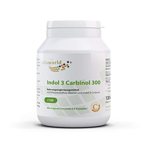 Pack de 3 Vita World Indole-3-Carbinol 300 mg 3 x 120 Cápsulas vegetales Made in Germany