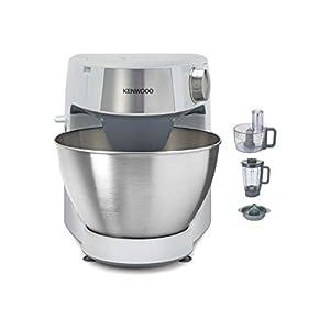 Kenwood Prospero+ KHC29.H0WH – Robot de Cocina Multifunción, Bol 4,3L, Mezclar, Batir y Amasar, Batidora de Vaso de Cristal 1.5L, Procesador de Alimentos 1.4L con Tres Discos y Exprimidor, Blanco