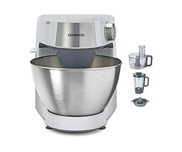 Kenwood Prospero+ KHC29.H0WH - Robot de cocina multifunción, bol 4.3 L, mezclar, batir y amasar, batidora de vaso de cristal 1.5 L, procesador de alimentos 1.4 L con tres discos y exprimidor, blanco