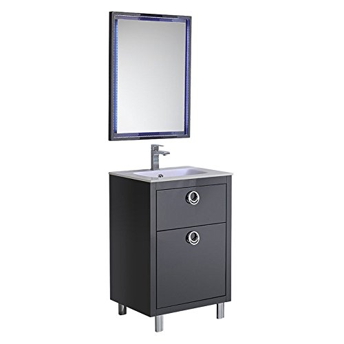 Fresca Platinum Due 24' Glossy Cobalt Bathroom Vanity