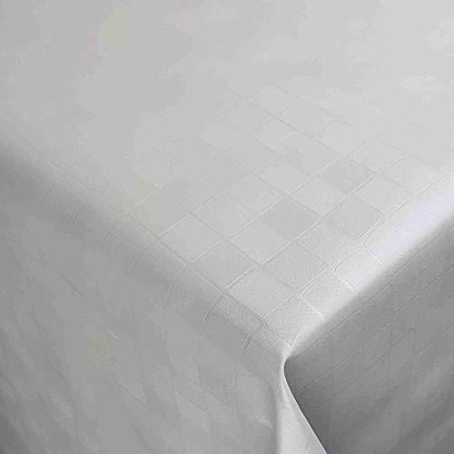 Wachstuch Wachstischdecke Tischdecke Gartentischdecke Tropfen Weiß Breite & Länge wählbar 120 x 190 cm Eckig geprägt abwaschbar Lebensmittelecht