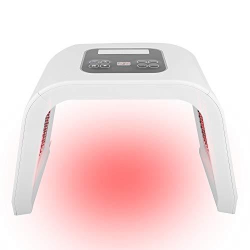 LED-Gesichtsmaske, 4 Typen 7 Farben PDT LED-Licht Schönheit Photodynamische Lampe Akne-Behandlung Hautverjüngungsmaschine zur Akne-Reduzierung/Hautverjüngung(EU)