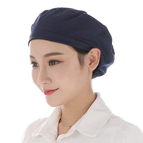 Xianheng Gorro de Trabajo para Mujer Sombrero de Cocinero Ajustable Gorro para Cocinar y Restaurante Gorra para Trabajo Uniforme para Fábrica Taller