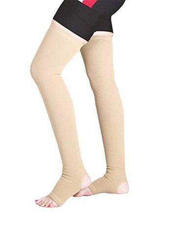 Kudize Varicose Vein Stocking Compression Premium Thigh Length (XL)