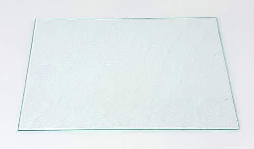 Kühlschrank Einlegeboden | Glasplatte | Gemüsefach/Ersatzglas - Strukturglas 4 mm Stärke (47,5 cm x 28,0 cm)