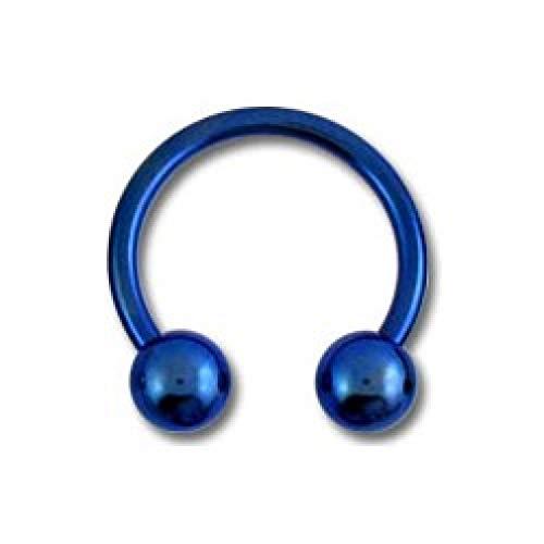 VOTREPIERCING Piercing Tragus/Oreja Titanio Grado 23 Anodizado Azul Marino Dos Bolas 1.2 x 6 x 3 mm