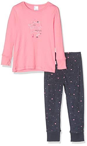 Schiesser Mädchen Cat Zoe Md Anzug lang Zweiteiliger Schlafanzug, Rot (Rosé 506), (Herstellergröße: 104)