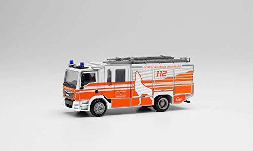 herpa 095310 - Man TGM Ziegler Z-Cab Löschfahrzeug - Feuerwehr Wolfsburg. 1:87