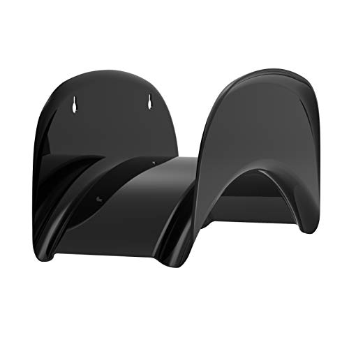 Gardzen Steel Wall-mounted Heavy Duty Black Hose Bracket, Car Hose Holder, Carrier, Support For Garden Hose Hanger