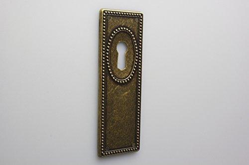 Schild Schlüsselschild Möbelschild Zierschild Metall hochwertig in brüniert veredelt