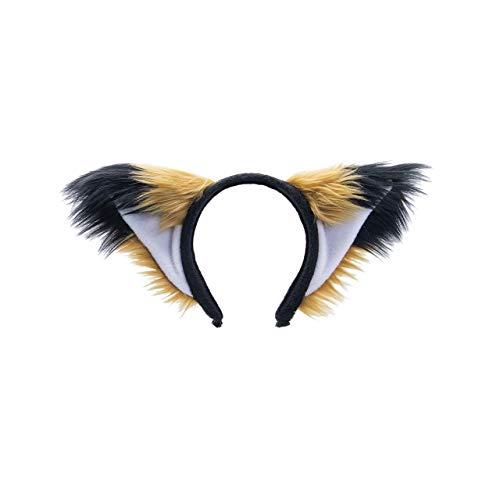 Pawstar Brown Furry Fox Ear Headband – Tan