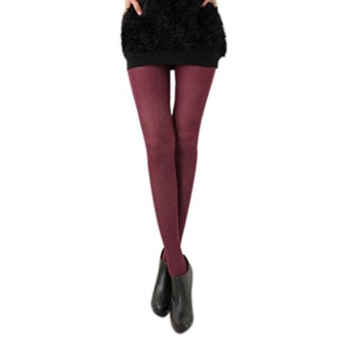 Floridivy Vrouwen Solid Hollow Out panty Vrouwelijk Mesh Hollow Out panty's, Mesh Club Party Kousen Slim Tights