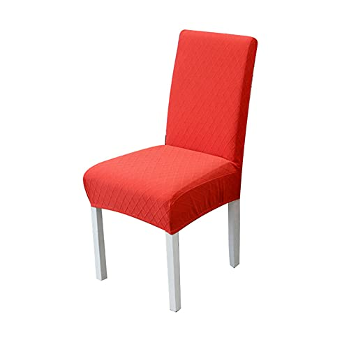 Magic universal chair cover ?- Solid color Removable and washable elastic chair cover, Backrest integrated office computer chair cover - for Kitchen,Dining Room,Wedding Decor,Hotel,Restaurant (red)