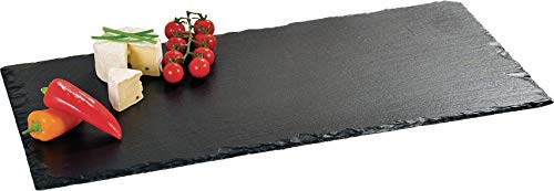 Kesper 38102 Buffet-Platte aus Schiefer, 60 x 30 cm