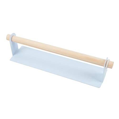 Rieles de toalla 2 uds. De madera para baño, perchero para toallas, barra, armario de cocina, película adhesiva, trapo, soporte para colgar, organizador, rollo de papel higiénico, soporte, estante